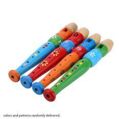 Wooden Piccolo Flute Sound Musical Instrument Early Education Toy Gift for Baby Kid Child