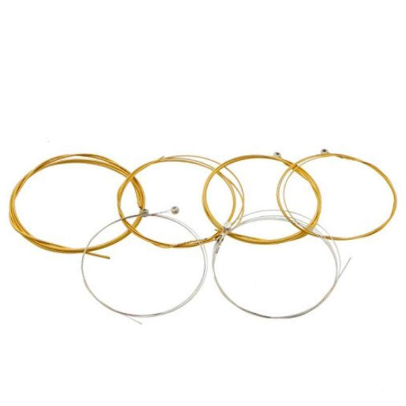 Zoo on Yoo Acoustic Guitar Strings Nickel Alloy Strings Set, 6 Guitar Stings, E-012, B-016, G-024, D-031, A-041, E-049, Clear and high quality(gold) Malaysia