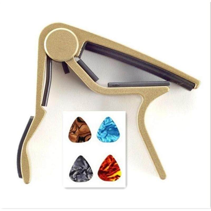 Zoo on Yoo Single-handed Guitar Capo Quick Change(gold)with free four guitar picks Malaysia