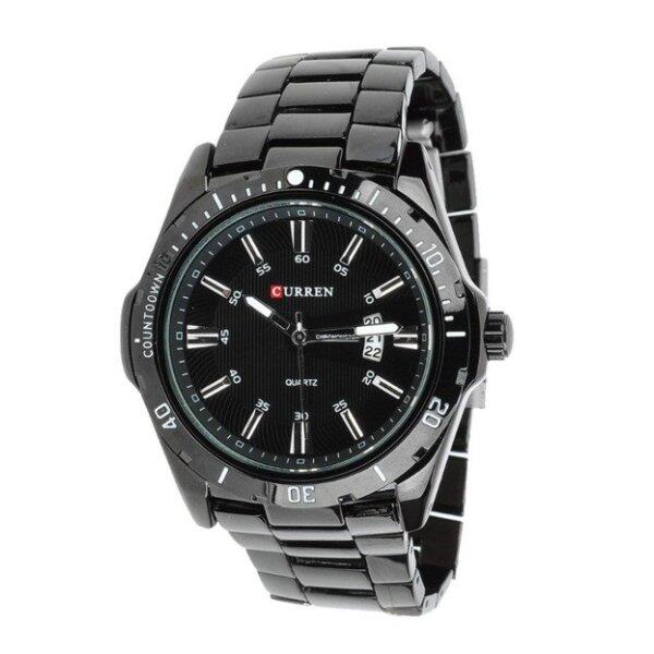 Curren 8110 Mens Black Stainless Steel Strap Watch Malaysia