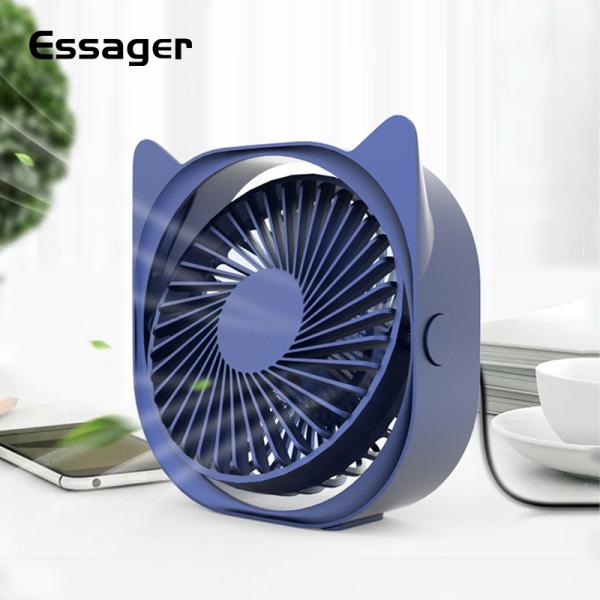 Essager Mini USB Fan For Office Electronic Summer Gadgets Desktop Desk Small Fan Portable USB Cooler Cooling Fan Mini-fan
