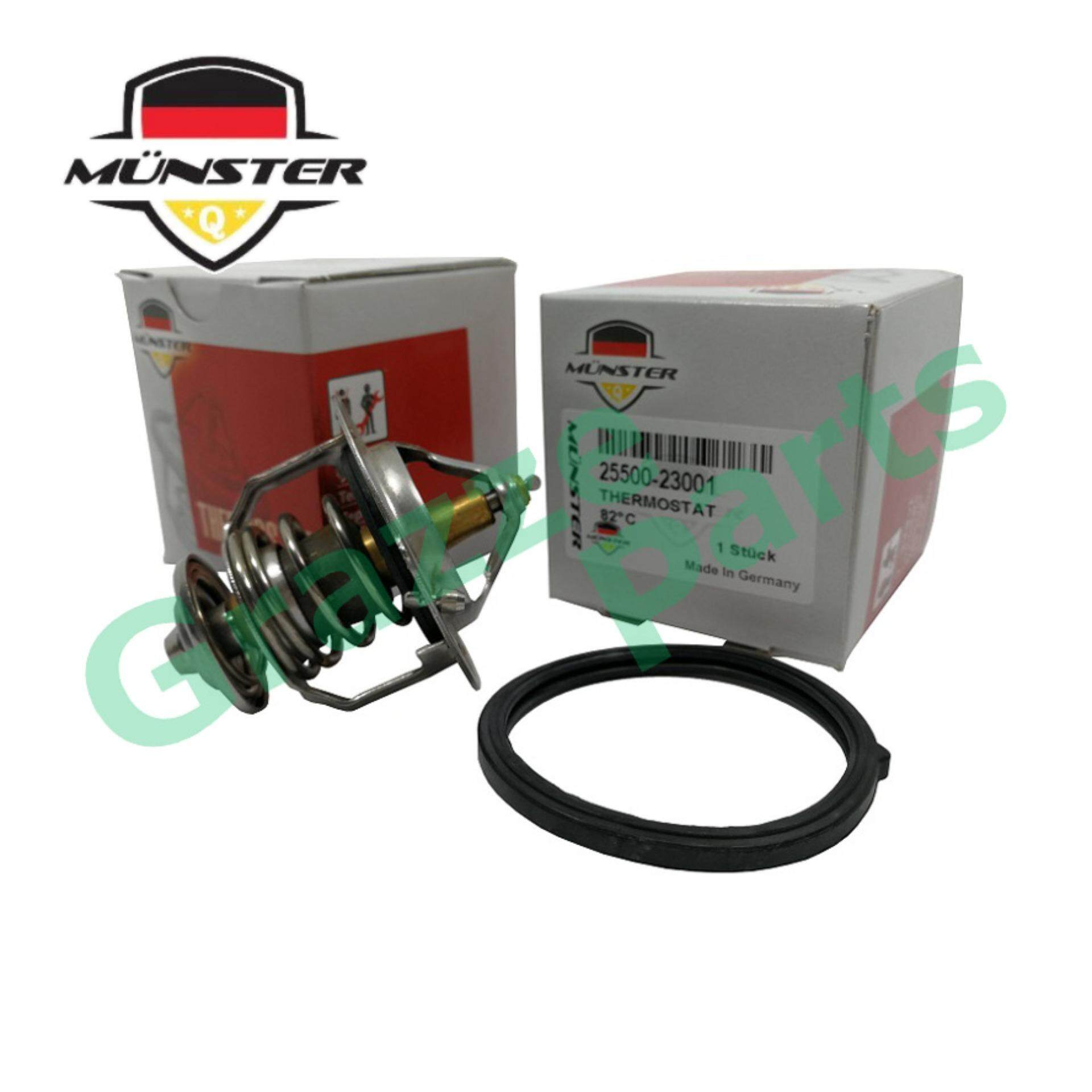 Münster Coolant Thermostat + Sealing Ring for 25500-23001 Hyundai Matrix  Elantra Getz Kia Citra