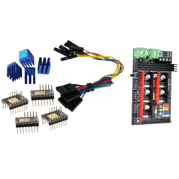 4Pcs Tmc2130 V3.0 Stepper Motor Stepstick Mute Silent Driver & 1Pcs Ramps 1.6 Plus Expansion Control Panel