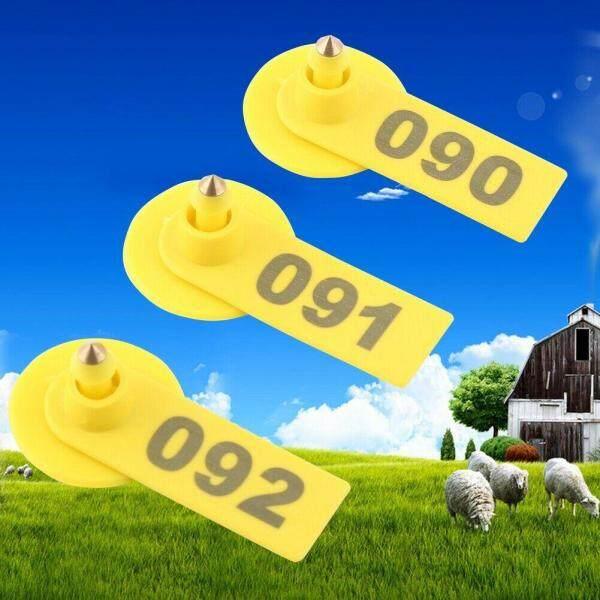 001-100 Trang Trại Cừu Bò Chăn Nuôi Đếm Số Lượng Dê Vật Dụng Chăn Nuôi Chống Mất Mát, Lợn Nhận Dạng Phụ Kiện Thẻ Tai