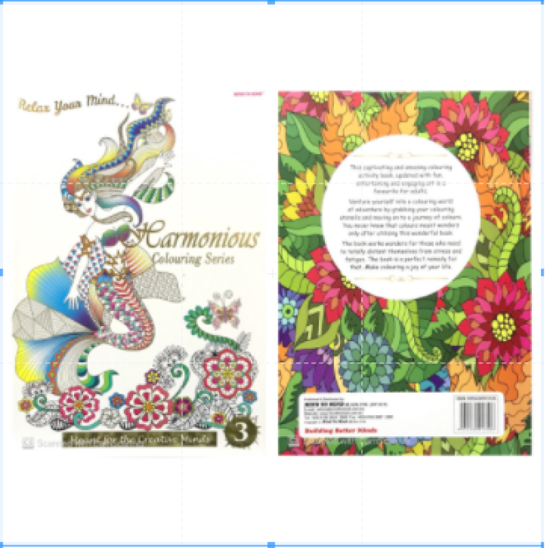 【Mind to Mind】Relax Your Mind Colouring Series - Meant for the Creative Minds (Adult Colouring Book) - Book 3 Malaysia