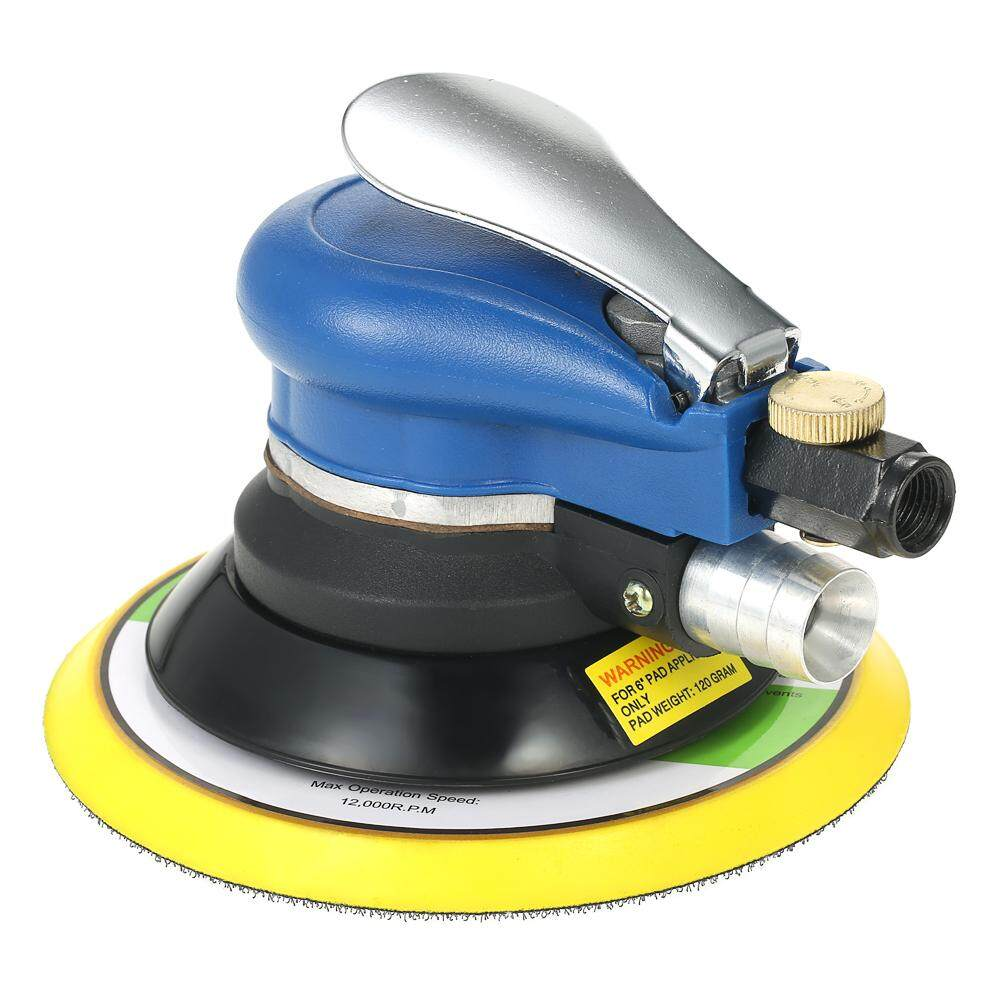 6 Inches 10000RPM Dual Action Pneumatic Air Sander Car Paint Care Tool Polishing Machine Electric Woodworking Grinder Polisher EU Plug