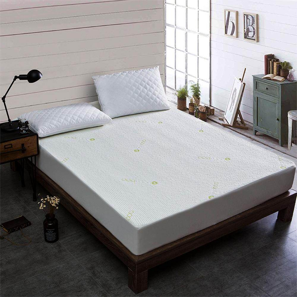 Bamboo Fiber Jacquard Fitted Sheet Mattress Cover Waterproof Isolated Urine Baby
