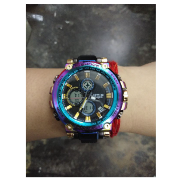 (Ready Stock) G-shock MTG-B1000RB Rainbow Dual Time Stainless Stell Digital Sport Watch Malaysia