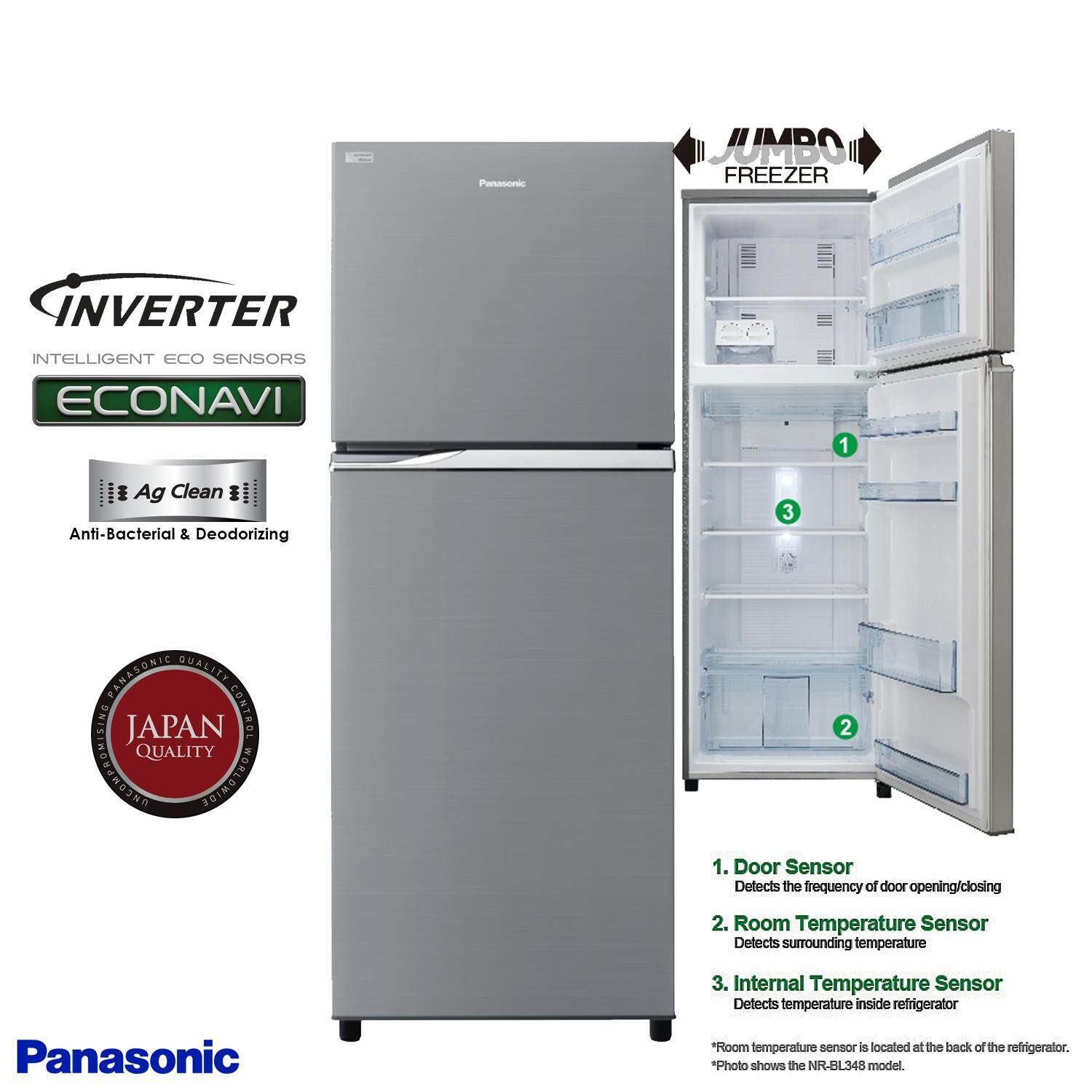 Panasonic Top Fridge 2 Door Inverter 407Liter NR BD418PSMY
