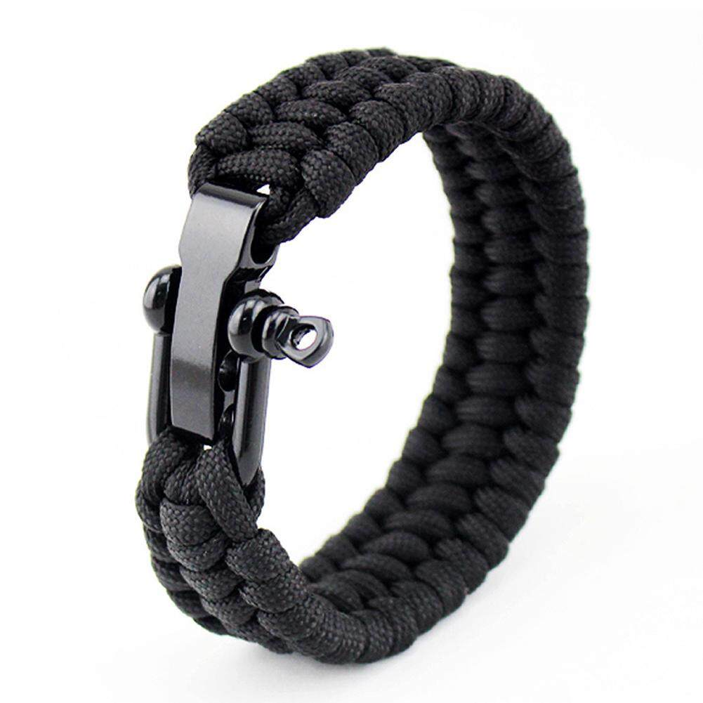 Survival Bracelet Lifesaving Paracord Gear Outdoor Rope Wrist Braided Camping By Makiyo.
