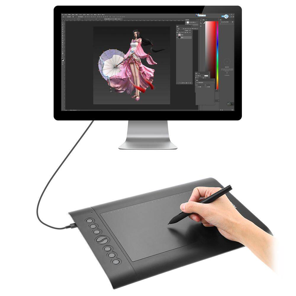 Huion USB Graphics Drawing Pad Upgraded H610 PRO V2 Pad Art Digital  Handwriting Drawing Board with Pen