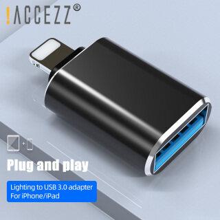 Bộ chuyển đổi hợp kim nhôm accezz, bộ chuyển đổi OTG từ Nam sang USB2.0 cho Iphone 11 Pro Max 6 7 8 Plus, phụ kiện điện thoại di động thumbnail