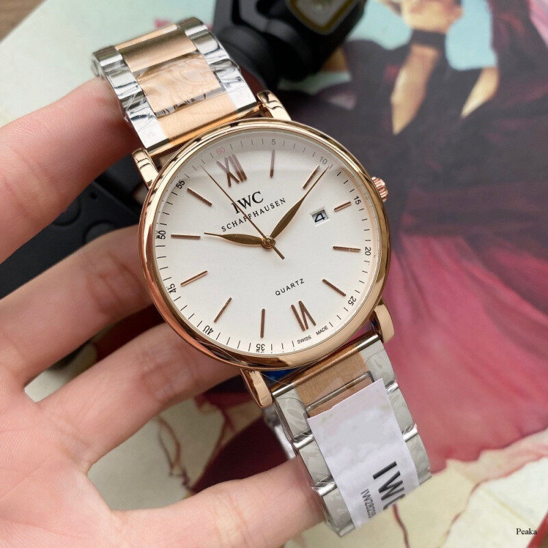 Original IWCS Watches Quartz Watch Luxury Stainless Steel Watches Round Dial Business Mens Watch Malaysia