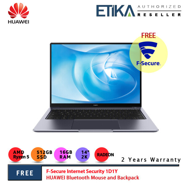 Huawei MateBook 14 R5 2020 14 2K Laptop Space Grey (AMD Ryzen 5 4600H/ 16GB/ 512GB SSD/ AMD Radeon/ W10) Malaysia