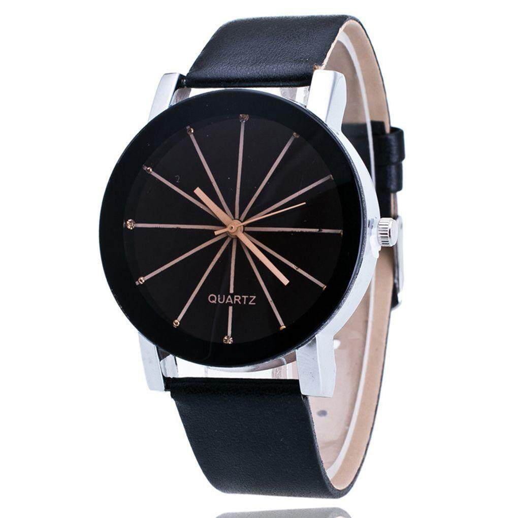 Simple Style Watches Men Women Leather Strap Quartz-watch Student Wristwatch Malaysia
