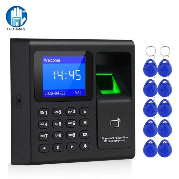 RFID Fingerprint Access Control Keypad Biometrics System Password Card Reader USB Time Attendance Device+10 Keyfobs, no Software