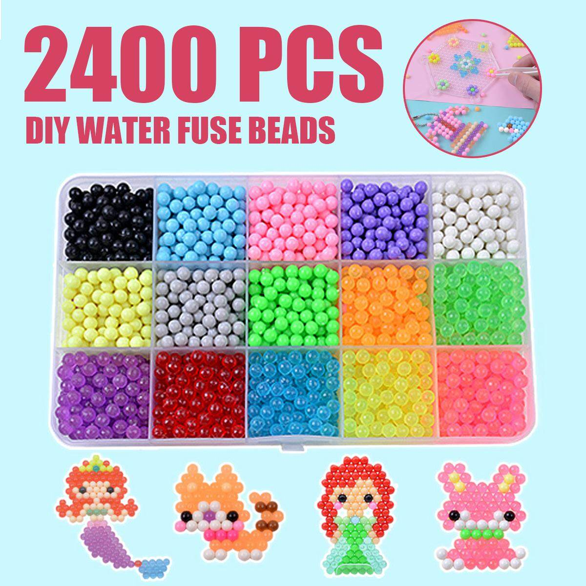2400pcs Diy Handmade Boy Girl Toy Magic Water Mist Magic Beads Water Sticky Beads Spell Bean Bean Magic Beads By Teamwin.