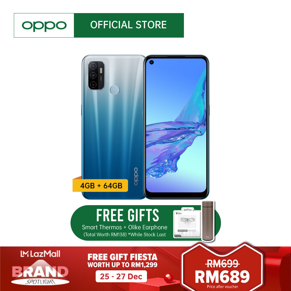 OPPO A53 Smartphone | 4GB RAM+ 64GB RAM | 90Hz Neo-Display|5000mAh Battery | 18W Fast Charge | Feel The Speed