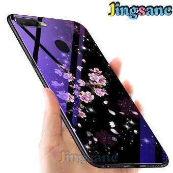 Jingsanc สำหรับ OPPO A7/A5S โทรศัพท์เคสบางพิเศษ HYBRID Blue-Ray แก้วแฟชั่นซิลิโคนแบบนุ่ม TPU EDGE Anti-Scratch เคสหลังฝาครอบ