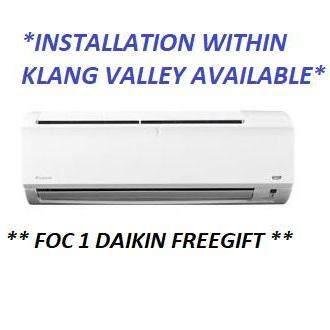 DAIKIN R32 WALL MOUNTED AIR CONDITIONER NON INVERTER 1.0 HP FTV28P FOC 1 FREEGIFT