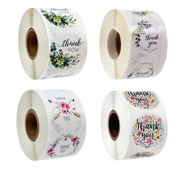 Mua Cảm ơn bạn dán niêm phong Sticker handmade thủ công trang trí dán hoa 500 cái/cuộn
