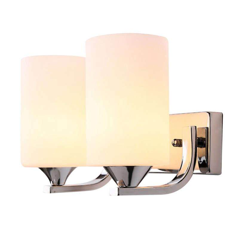 Modern Glass Led Light Wall Sconce Lamp Lighting Fixture Indoor Bedroom Decor,Sdouble Head Without Switch Warm White