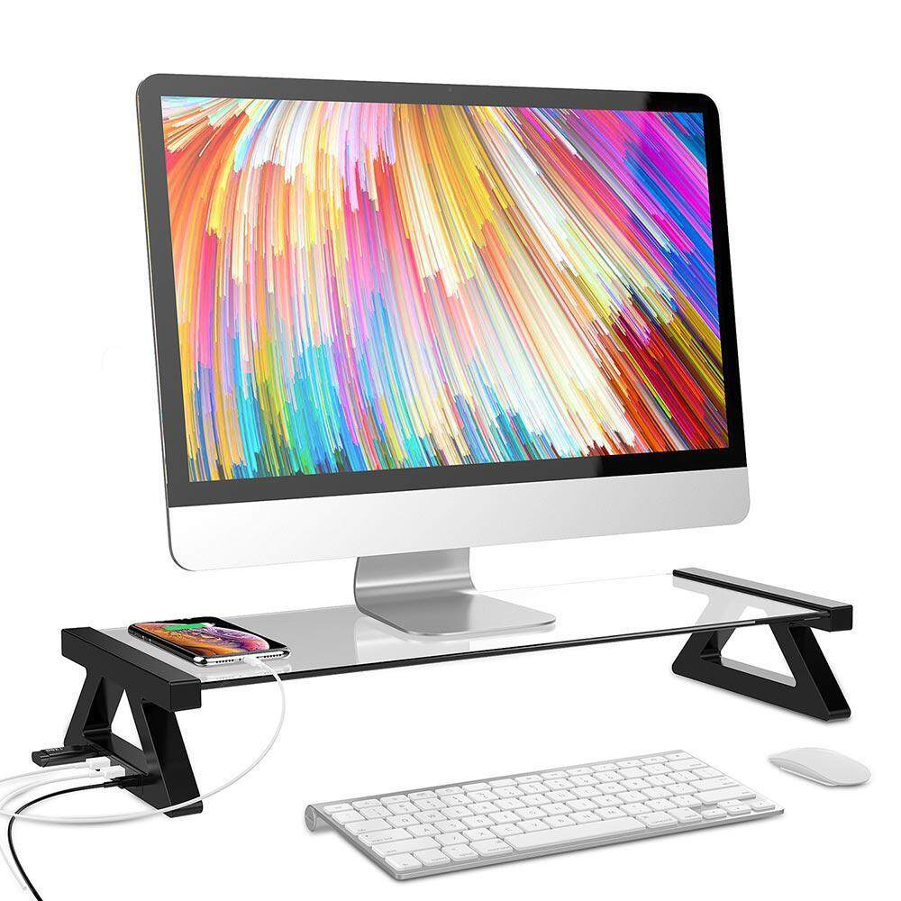 Aolvo Multi-function USB2.0 monitor stand display stand Entertainment Center stand Laptop Stand