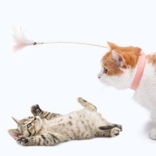 SKYJS Vòng Cổ Mèo Con Vui Nhộn, Đồ Dùng Cho Mèo Sản Phẩm Vật Nuôi Lông Trêu Ghẹo Thanh Que Trêu Chọc Mèo, Gậy Tương Tác Đồ Chơi Lông Mèo Tương Tác thumbnail