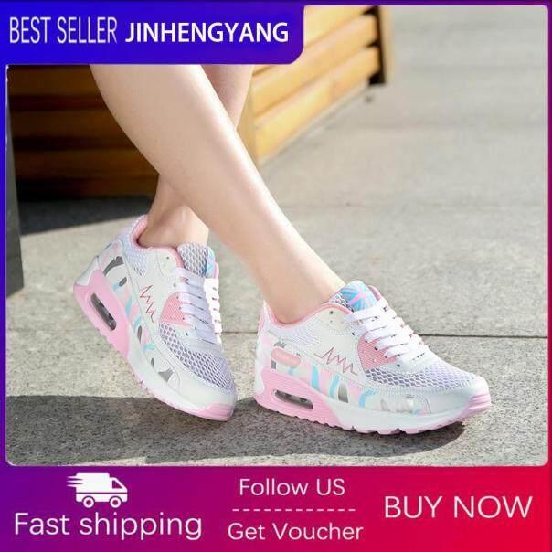 Giày Hàn Quốc jinhengyang cho nữ Giày đế bằng thời trang Giày thể thao đế bằng Giày lưới đệm khí Plussize 35-40 giá rẻ