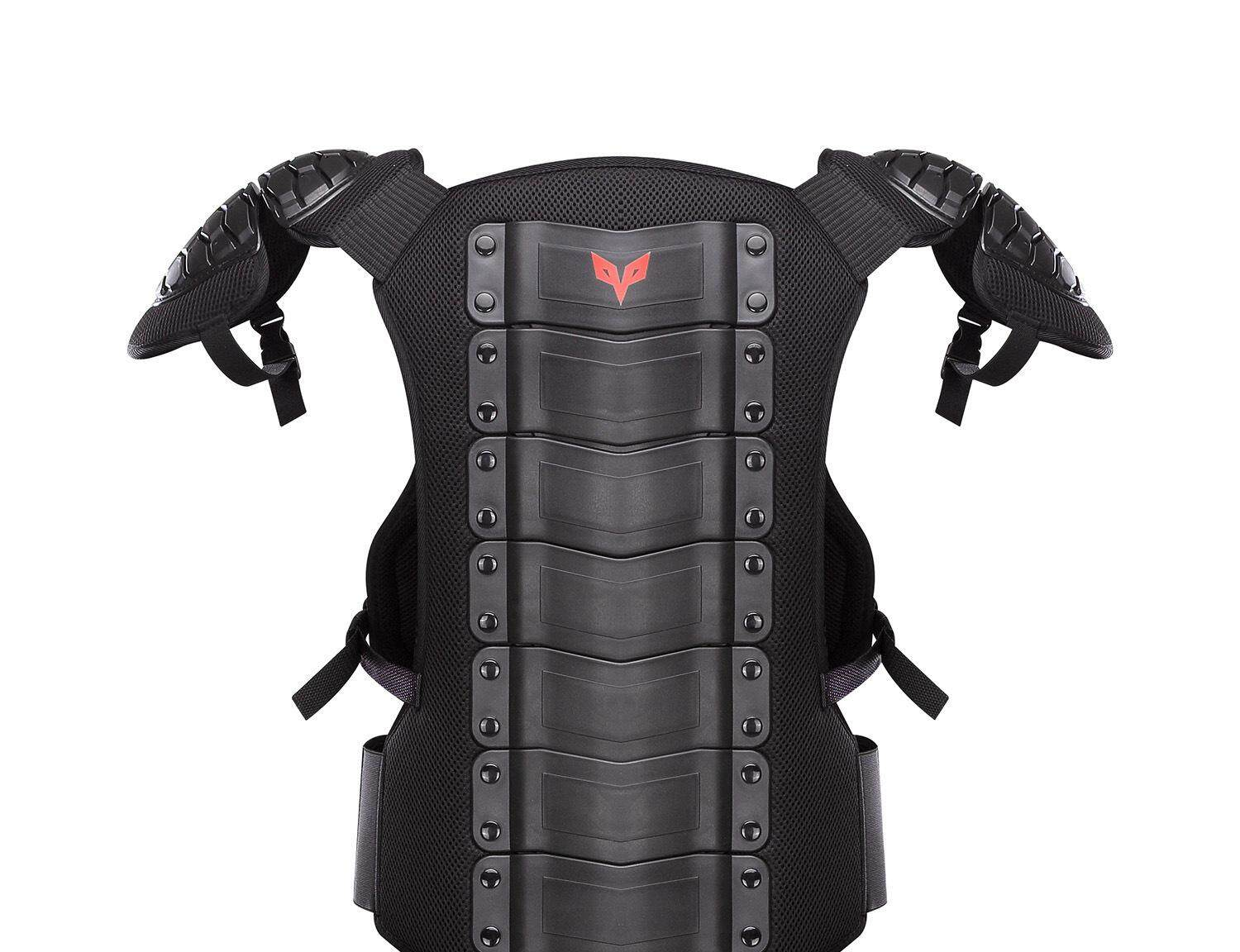 DUHAN Motorcycle Jacket Men Motocross Moto Clothing Racing Body Armor Waistcoat Protection Vest Chest Protective Gear Elbow Pads