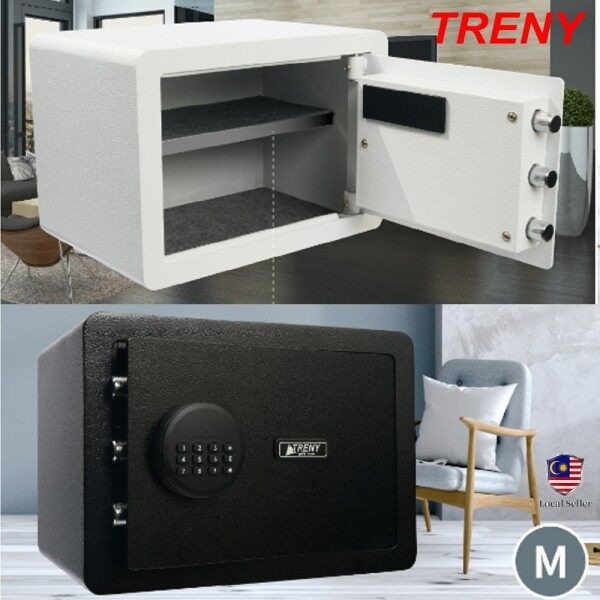 TRENY Standard Electronic alarm Safe Box Digital Safety Box Safe Box Burglar Safe Box Anti-Theft Box - 25EO