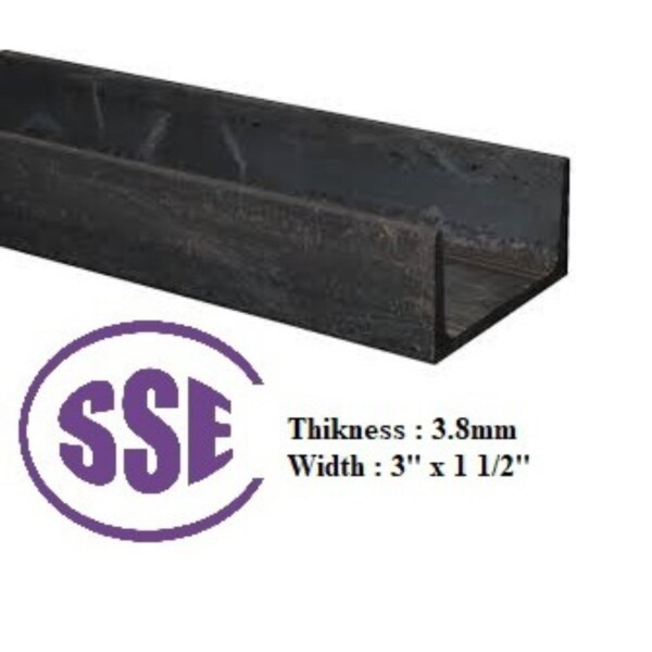 ♘☫☇  MS U CHANNEL THICKNESS 3.8MM (dont COD) (dont COD)