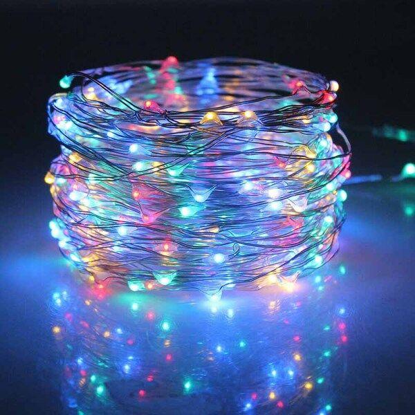 Dây Nguồn Năng Lượng Mặt Trời LED 100 10M Đèn Tắm Sao Băng Cổ Tích Không Thấm Nước Đèn Dây Đồng, Đèn Sân Vườn Chạy Bằng Năng Trang Trí Giáng Sinh Đám Cưới Tiệc Tùng Ngoài Trời Đèn Dây