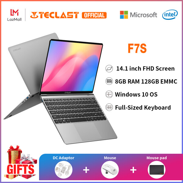 【NEW ARRIVAL】 Teclast F7S Traditional Notebook/14.1 inch IPS Screen/8GB RAM 128GB EMMC/Windows 10/ Intel Apollo Lake Processor/1 year warranty/Installment Malaysia