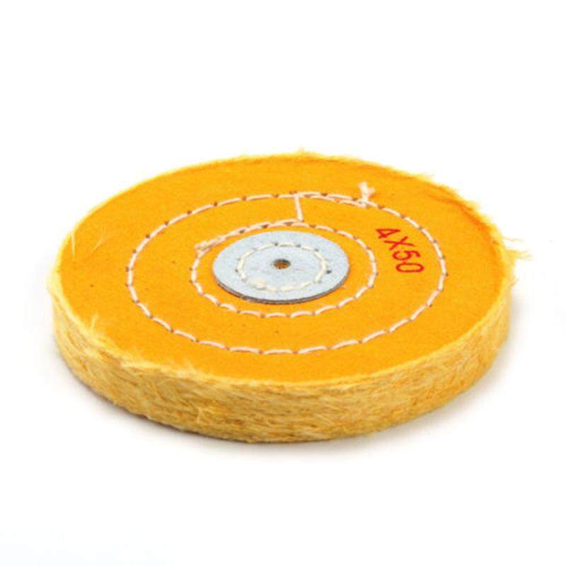 4 inch Yellow Cotton Polishing Buffs Yellow Buff Wheel Abrasive Grinding Wheel