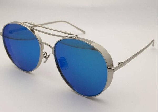 Mua Polarized Big Bully 02(11m) Brand New Gentle Women Monster Mirrored Sunglasses-sliver frame blue lens