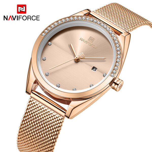NAVIFORCE 5015 Women Watch Fashion Casual Watch for Women Ladies  Luxury Waterproof Wristwatch Malaysia