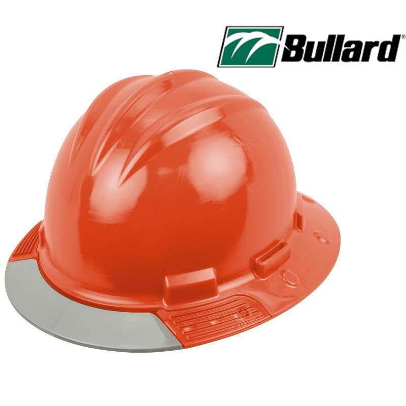 Bullard Hat Head Protection Safety Helmet, Above View, Gray Visor