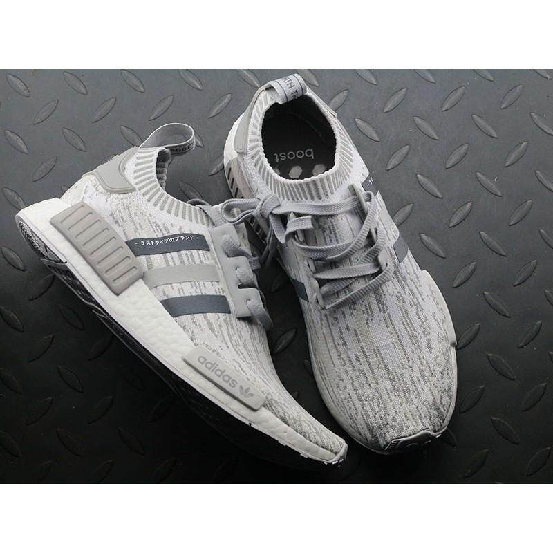 a643af849b4bf Original Adidas NMD R1 PRIMEKNIT BY9865 Grey Women Men Sport Shoes