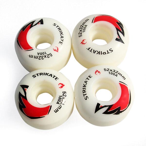 Phân phối Cái/lốc 4 Bánh Xe Ván Trượt, Trượt Thay Thế Sửa Chữa Trắng Skate Các Bộ Phận