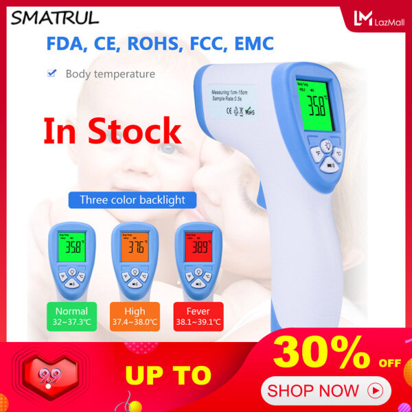 SMATRUL [READY Stock] Non-contact Thermometer Medical Infrared Forehead Digital Kids Body Object Temperature  Portable for Baby Adult