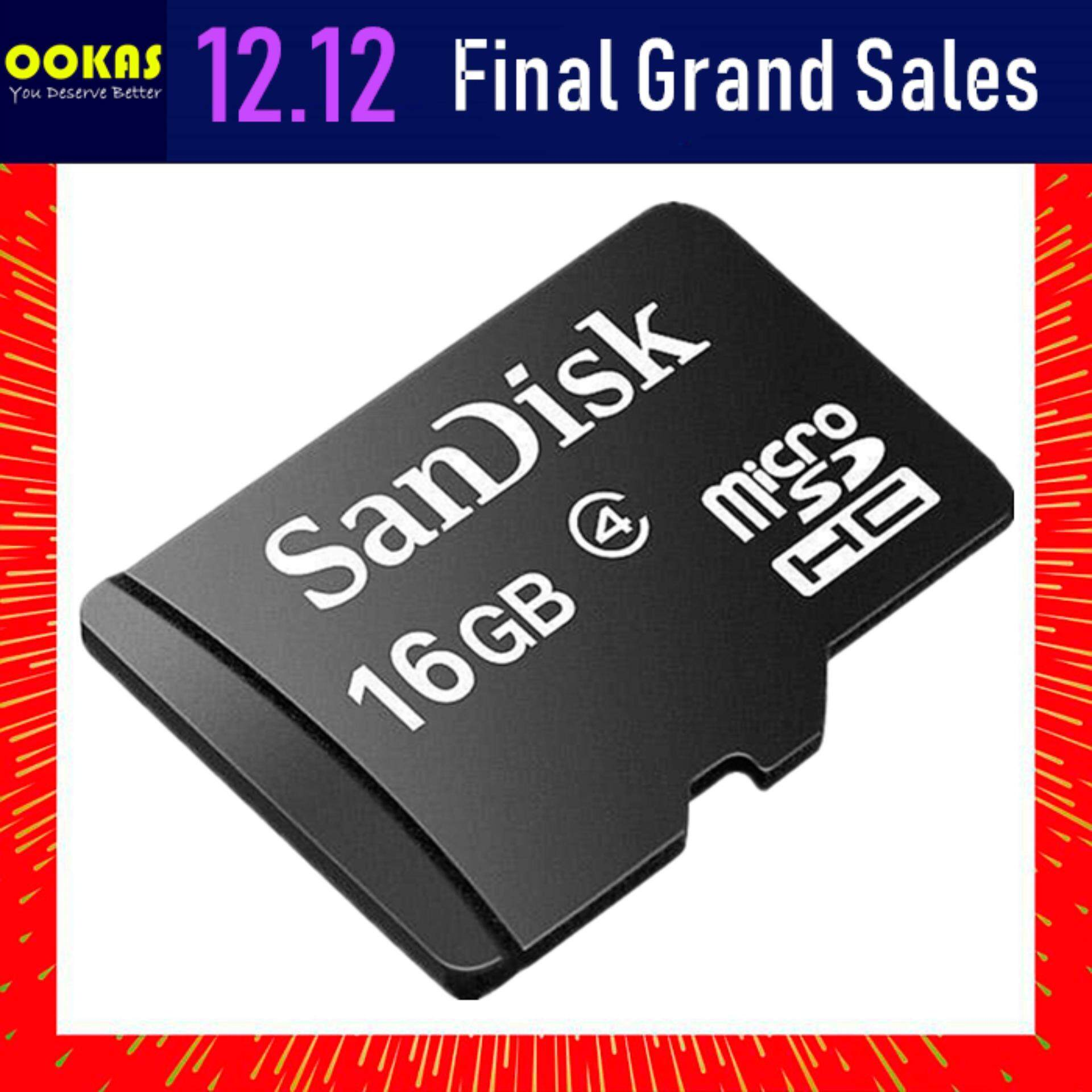 Memory Micro Sd Card With Best Price At Lazada Malaysia Microsd Sandisk 8gb Class 4 32gb 16gb Tf Sdhc