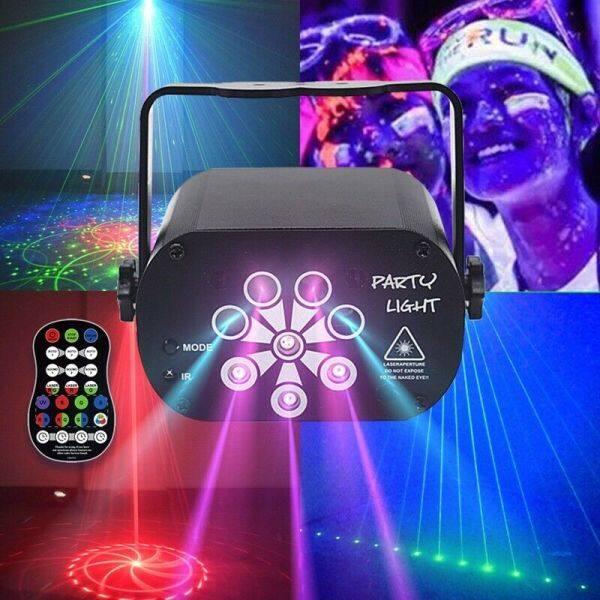 Đèn Led Chiếu Laser Sân Khấu Tiện Dụng RGB Họa Tiết 60/120 Chương Trình Phát Sáng Sàn Nhảy Sạc USB, Dành Cho Tiệc Tại Nhà Sàn Nhảy DJ KTV
