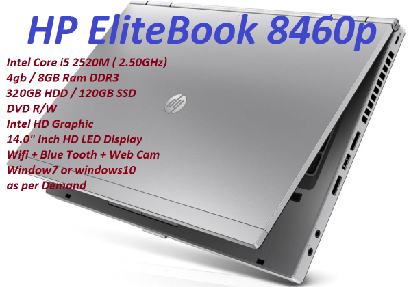 Laptop intel Core i5 Notebook Core i5 Laptop HP EliteBook 8460 Core i5 Professional Series Business Edition Used Malaysia