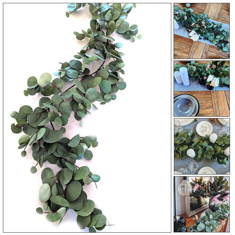 Tsujiu Store 2M Creative Fashion Wedding Decoration Greenery Artificial Plant Simulated Eucalyptus Artificial InsRattan