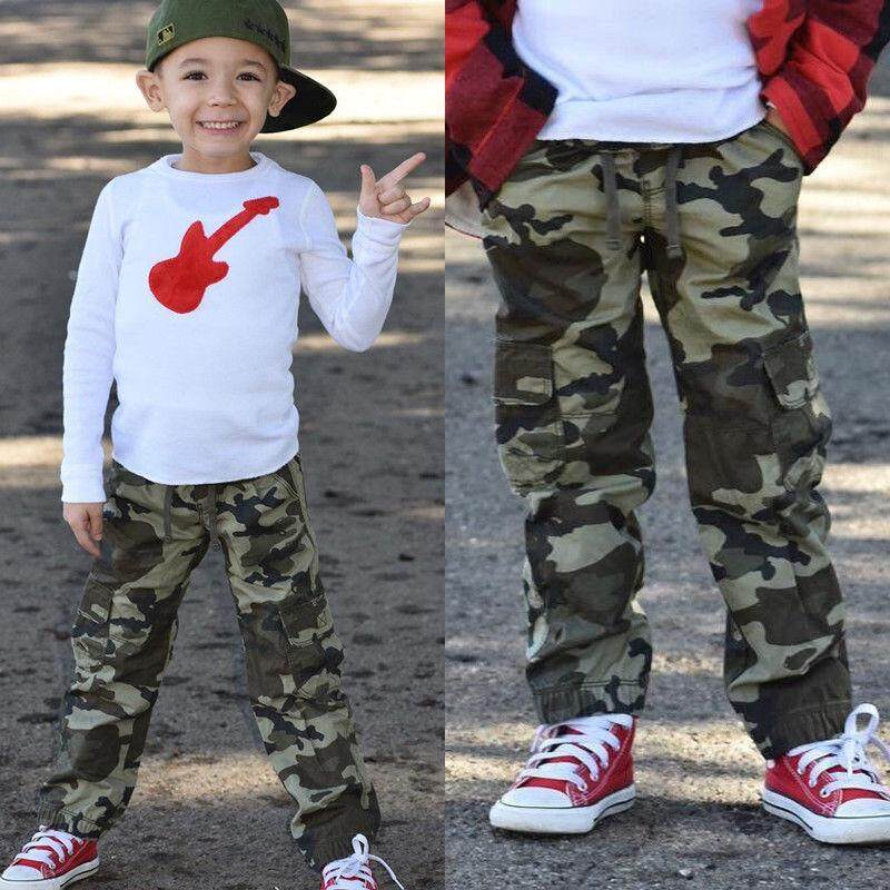 aff1577561491 Camo Kids Children Boys Casual Trousers Toddler Boy Army Military Pants  Bottoms