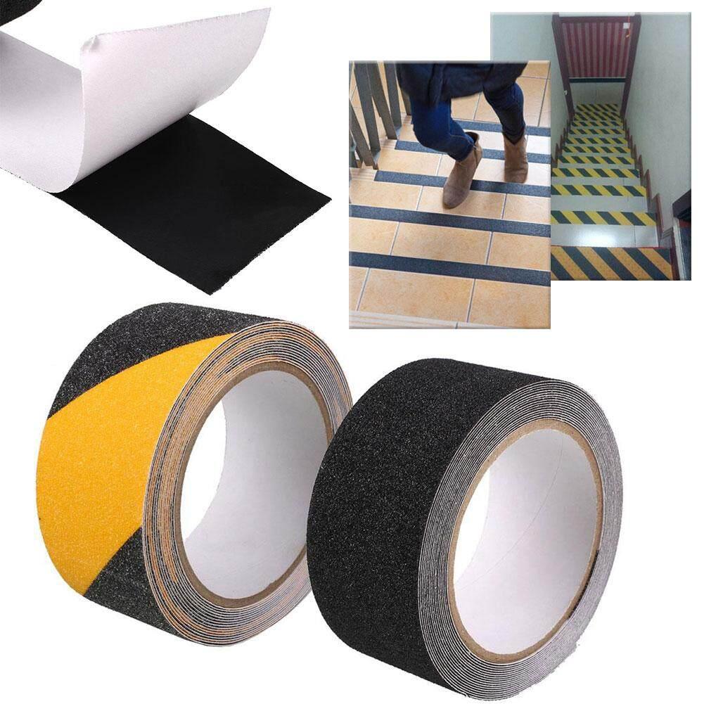 Black Yellow Floor Bathroom Stair Non-Slip Self-adhesive Waterproof Warning Tape
