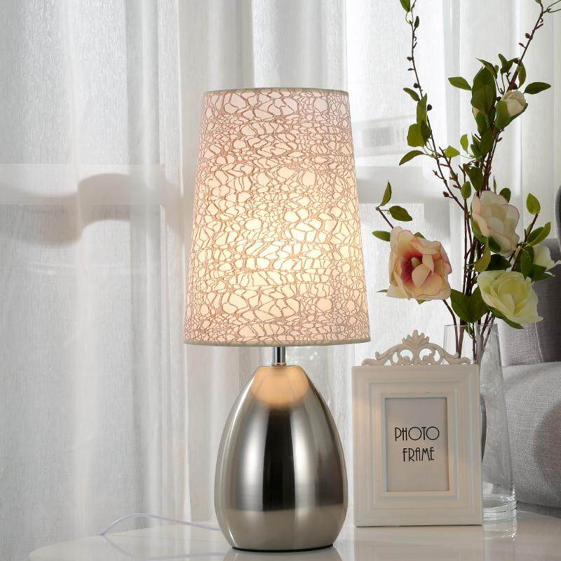 Nordic Table Lamp Bedroom Bedside Light Home Simple Living Room Study LED Desk Lamp Button Switch