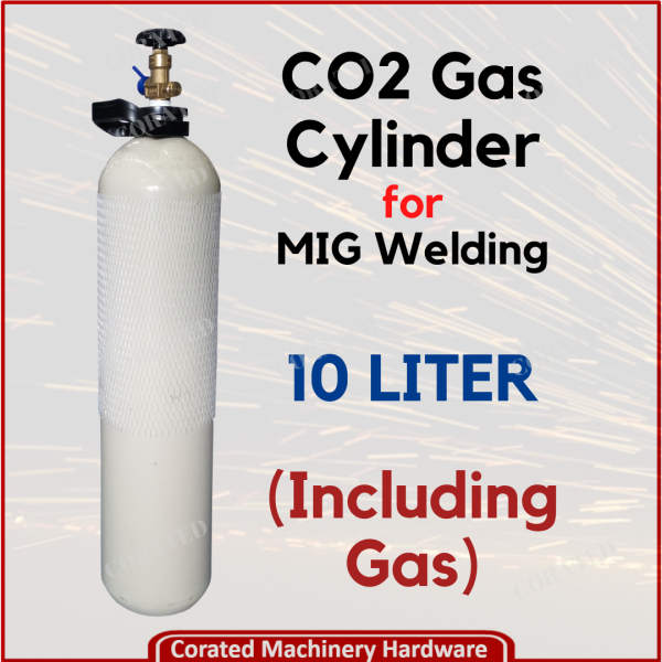 [CORATED] CO2 Portable Gas Cylinder For MIG Welding 10Liter (Including Gas)