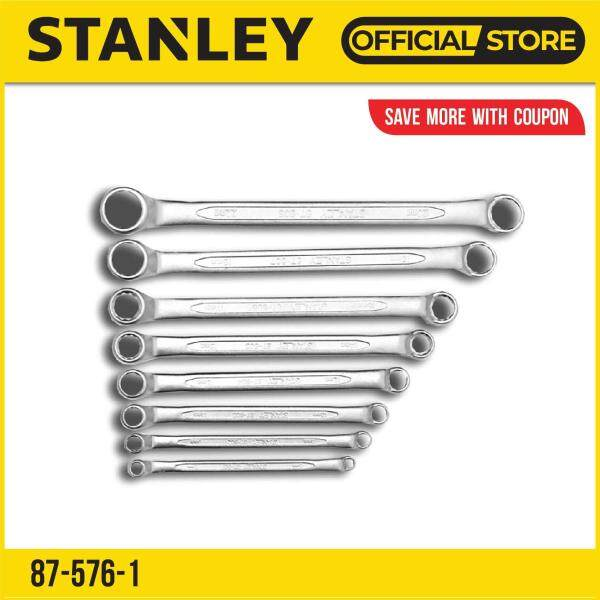 Stanley 87-576-1 75 Degree / 75° Offset Ring End Wrench Set 8 Piece Metric (No Pouch)